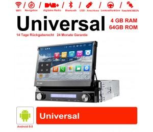 7 Zoll Android 9.0 Autoradio / Multimedia 4GB RAM 64GB ROM für Universal GPS Navigation Stereo Radio WIFI MP3 Bluetooth USB SWC