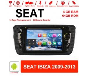 NEU 7'' Android 9.0 4GB+64GB 1024*600 HD Capacitive Touch Screen Autradio Für Seat IBIZA