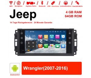 7 Zoll Android 9.0 Autoradio / Multimedia 4GB RAM 64GB ROM Für Jeep Wrangler