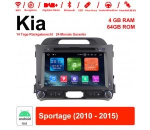 8 Zoll Android 10.0 Autoradio / Multimedia 4GB RAM 64GB ROM Für Kia Sportage