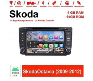 8 Zoll Android 10.0 Autoradio / Multimedia 4GB RAM 64GB ROM Für Skoda Octavia(2009-2012) mit Navi, Wifi, Bluetooth, USB...