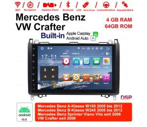 "9"" Android 10.0 Autoradio 4GB RAM 64GB ROM Für Mercedes BENZ A-Klasse W169, B-Klasse W245, Sprinter Viano Vito, VW Built-in Carplay/Android Auto"