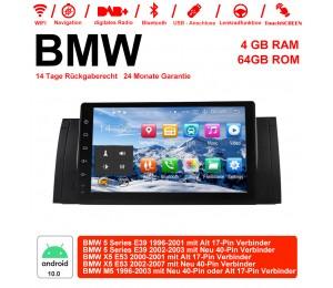9 Zoll Android 10.0  Autoradio / Multimedia 4GB RAM 64GB ROM Für BMW X5 E53 M5 E39