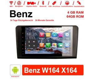 9 Zoll Android 9.0 Autoradio / Multimedia 4GB RAM 64GB ROM Für Benz W164 X164