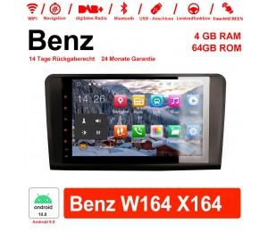 9 Zoll Android 10.0 Autoradio / Multimedia 4GB RAM 64GB ROM Für Benz W164 X164