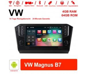 9 Zoll Android 9.0 Autoradio / Multimedia 4GB RAM 64GB ROM Für VW Magnus B7