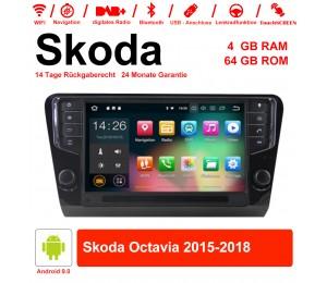 9 Zoll Android 9.0 Autoradio / Multimedia 4GB RAM 64GB ROM Für Skoda Octavia Mit NAVI, WIFI, Bluetooth...