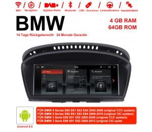 10.25 Zoll Roakchip PX6 6 Core 1,6 GHz Android 9.0 Autoradio / Multimedia 4GB RAM 64GB ROM Für BMW 5 Series E60 E61 E63 E64 BMW 3 Serie E90 E91 E92 CCC /CIC Mit WiFi NAVI Bluetooth USB