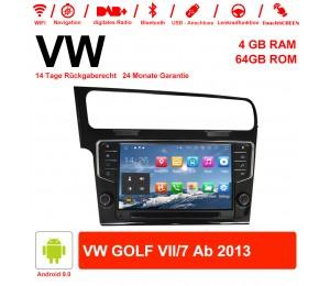 9 Zoll Android 9.0 Autoradio / Multimedia 4GB RAM 64GB ROM Für VW GOLF VII/7 ab 2013 Mit NAVI, WIFI, Bluetooth...