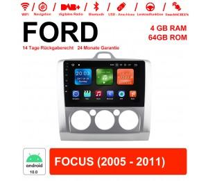 9 Zoll Android 10.0 Autoadio / Multimedia 4G RAM 64GB ROM  für Ford FOCUS(2005-2011)