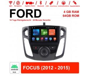 9 Zoll Android 10.0 Autoradio / Multimedia 4G RAM 64GB ROM für Ford FOCUS(2012-2015)