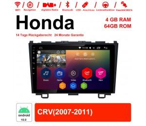 9 Zoll Android 10.0 Autoradio / Multimedia 4GB RAM 64GB ROM Für Honda CRV Mit WiFi NAVI Bluetooth USB
