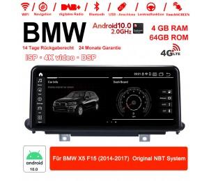 10,25 Zoll 4G LTE Android 10.0 Autoradio / Multimedia 4GB RAM 64GB ROM Für BMW X5 F15 (2014-2017) Original NBT System MIT DSP Bluetooth WIFI