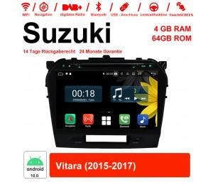 10,1 Zoll Android 10.0 Autoradio / Multimedia 4GB RAM 64GB ROM Für Suzuki Vitara 2015-2017 Mit WiFi NAVI Bluetooth USB