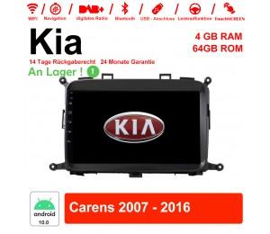 9 Zoll Android 10.0 Autoradio / Multimedia 4GB RAM 64GB ROM Für Kia Carens 2007 - 2016 Mit WiFi NAVI Bluetooth USB