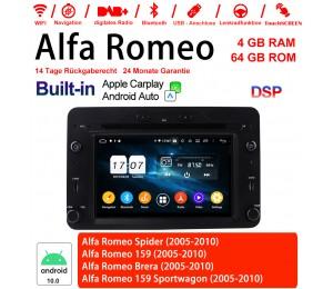 6.2 Zoll Android 10.0 Autoradio/Multimedia 4GB RAM 64GB ROM Für Alfa Romeo Spider 159 Brera 159 Sportwagon Built-in Carplay / Android Auto