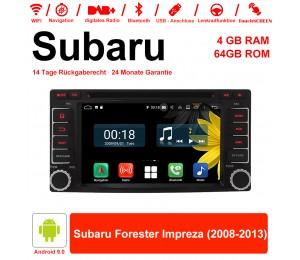 6.2 Zoll Android 9.0 Autoradio / Multimedia 4GB RAM 64GB ROM Für Subaru Forester Impreza 2008-2013 Mit WiFi NAVI Bluetooth USB