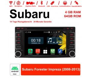 6.2 Zoll Android 10.0 Autoradio / Multimedia 4GB RAM 64GB ROM Für Subaru Forester Impreza 2008-2013 Mit WiFi NAVI Bluetooth USB
