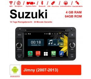 6.2 Zoll Android 9.0 Autoradio / Multimedia 4GB RAM 64GB ROM Für Suzuki Jimny 2007-2013 Mit WiFi NAVI Bluetooth USB