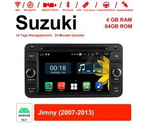 6.2 Zoll Android 10.0 Autoradio / Multimedia 4GB RAM 64GB ROM Für Suzuki Jimny 2007-2013 Mit WiFi NAVI Bluetooth USB