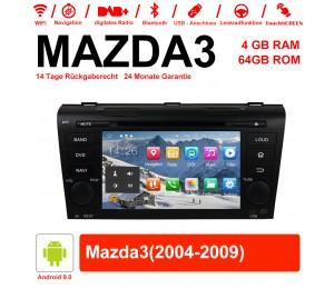 7 Zoll Android 9.0 Autoradio / Multimedia 4GB RAM 64GB ROM für MAZDA3 Mit WiFi NAVI Bluetooth USB