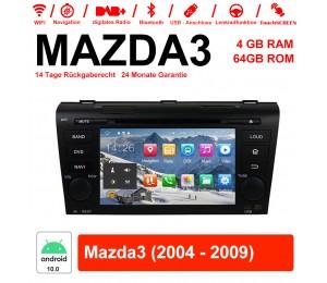 7 Zoll Android 10.0 Autoradio / Multimedia 4GB RAM 64GB ROM für MAZDA3 Mit WiFi NAVI Bluetooth USB