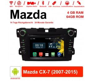7 Zoll Android 9.0 Autoradio / Multimedia 4GB RAM 64GB ROM Für Mazda CX-7 2007-2015 Mit WiFi NAVI Bluetooth USB
