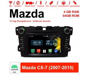 7 Zoll Android 10.0 Autoradio / Multimedia 4GB RAM 64GB ROM Für Mazda CX-7 2007-2015 Mit WiFi NAVI Bluetooth USB