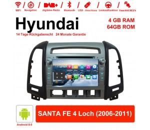 7 Zoll Android 9.0 Autoradio / Multimedia 4GB RAM 64GB ROM Für Hyundai SANTA FE 4 Loch 2006-2011 Mit WiFi NAVI Bluetooth USB