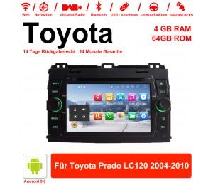 7'' Android 9.0 Octa-core 4GB RAM 64GB ROM Autoradio / Multimedia Für Toyota Prado LC120 2004-2010 Mit WiFi NAVI Bluetooth USB