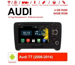 7 Zoll Android 9.0 Autoradio / Multimedia 4GB RAM 64GB ROM Für Audi TT 2006-2014 Mit WiFi NAVI Bluetooth USB