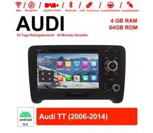 7 Zoll Android 10.0 Autoradio / Multimedia 4GB RAM 64GB ROM Für Audi TT 2006-2014 Mit WiFi NAVI Bluetooth USB