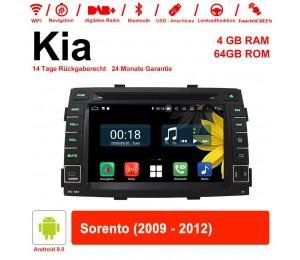 7 Zoll Android 9.0 Autoradio / Multimedia 4GB RAM 64GB ROM Für Kia Sorento 2009-2012 Mit WiFi NAVI Bluetooth USB