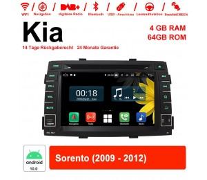 7 Zoll Android 10.0 Autoradio / Multimedia 4GB RAM 64GB ROM Für Kia Sorento 2009-2012 Mit WiFi NAVI Bluetooth USB