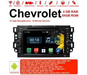 7 Zoll Android 9.0 Autoradio / Multimedia 4GB RAM 64GB ROM Für Chevrolet Holden Tosca Spark Optra Kalos Aveo Mit WiFi NAVI Bluetooth USB
