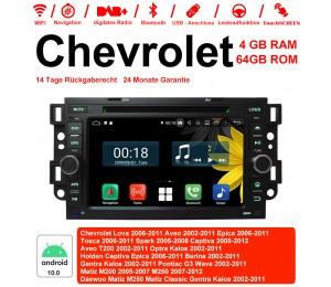 7 Zoll Android 10.0 Autoradio / Multimedia 4GB RAM 64GB ROM  Für Chevrolet Holden Tosca Spark Optra Kalos Aveo Mit WiFi NAVI Bluetooth USB