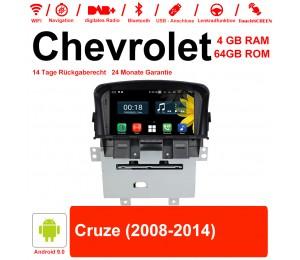 7 Zoll Android 9.0 Autoradio / Multimedia 4GB RAM 64GB ROM Für Chevrolet Cruze 2008-2014 Mit WiFi NAVI Bluetooth USB