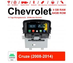 7 Zoll Android 10.0 Autoradio / Multimedia 4GB RAM 64GB ROM Für Chevrolet Cruze 2008-2014 Mit WiFi NAVI Bluetooth USB