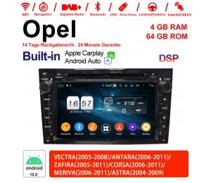 7 Zoll Android 10.0 Autoradio/Multimedia 4GB RAM 64GB ROM Für Opel Astra Antara Corsa Vectra Zafira Meriva Built-in Carplay/Android Auto
