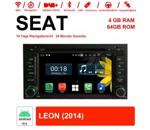 7 Zoll Android 10.0 Autoradio / Multimedia 4GB RAM 64GB ROM Für SEAT LEON 2014 Mit WiFi NAVI Bluetooth USB