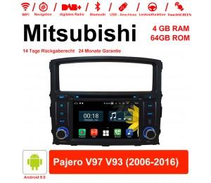 7 Zoll Android 9.0 Autoradio / Multimedia 4GB RAM 64GB ROM Für Mitsubishi Pajero V97 V93 2006-2016 Mit WiFi NAVI Bluetooth USB