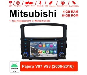 7 Zoll Android 10.0 Autoradio / Multimedia 4GB RAM 64GB ROM Für Mitsubishi Pajero V97 V93 2006-2016 Mit WiFi NAVI Bluetooth USB