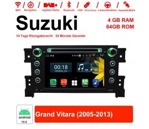 7 Zoll Android 10.0 Autoradio / Multimedia 4GB RAM 64GB ROM Für Suzuki Grand Vitara 2005-2013 Mit WiFi NAVI Bluetooth USB