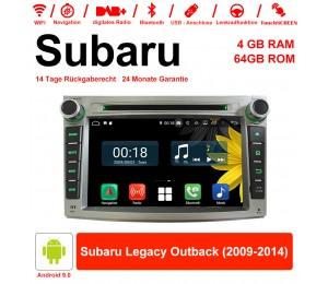 7 Zoll Android 9.0 Autoradio / Multimedia 4GB RAM 64GB ROM Für Subaru Legacy Outback 2009-2014 Mit WiFi NAVI Bluetooth USB