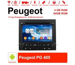 7 Zoll Android 9.0 Autoradio/Multimedia 4GB RAM 64GB ROM Für PEUGEOT PG 405 Mit WiFi NAVI Bluetooth USB