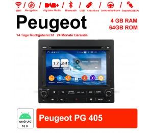 7 Zoll Android 10.0 Autoradio/Multimedia 4GB RAM 64GB ROM Für PEUGEOT PG 405 Mit WiFi NAVI Bluetooth USB