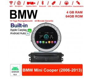 7 Zoll Android 10.0 Autoradio / Multimedia 4GB RAM 64GB ROM Für BMW Mini Cooper 2006-2013 Built-in Carplay / Android Auto
