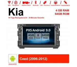 7 Zoll Android 9.0 Autoradio / Multimedia 4GB RAM 64GB ROM Für Kia Ceed 2006-2013 Mit WiFi NAVI Bluetooth USB