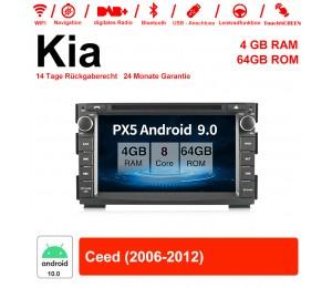 7 Zoll Android 10.0 Autoradio / Multimedia 4GB RAM 64GB ROM Für Kia Ceed 2006-2013 Mit WiFi NAVI Bluetooth USB
