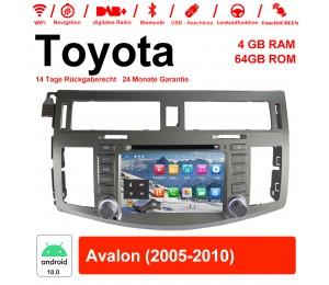 8 Zoll Android 10.0 Autoradio / Multimedia 4GB RAM 64GB ROM Für Toyota Avalon 2005-2010  Mit WiFi NAVI Bluetooth USB